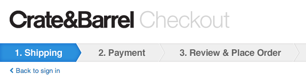 Crate and Barrel Checkout