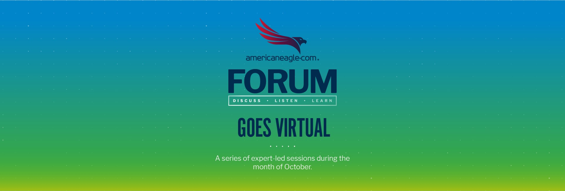 A series of expert-led sessions during the month of October