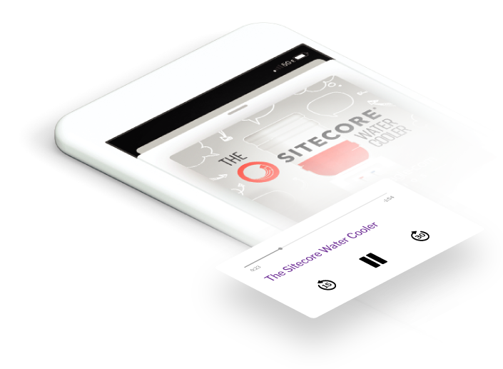 Sitecore Water Cooler Podcast Screen