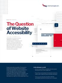 The Question of Website Accessibility Whitepaper