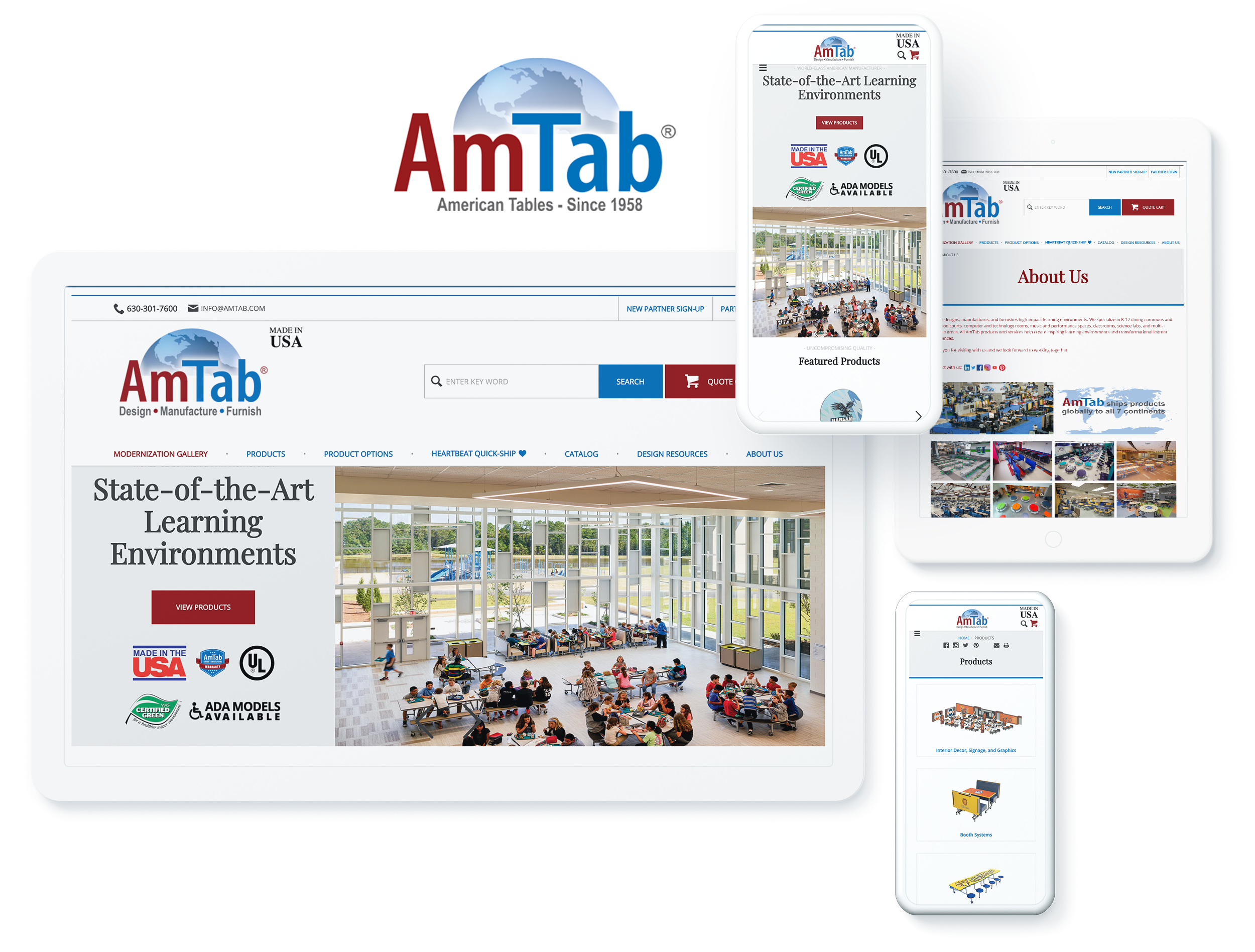 AmTab Screens