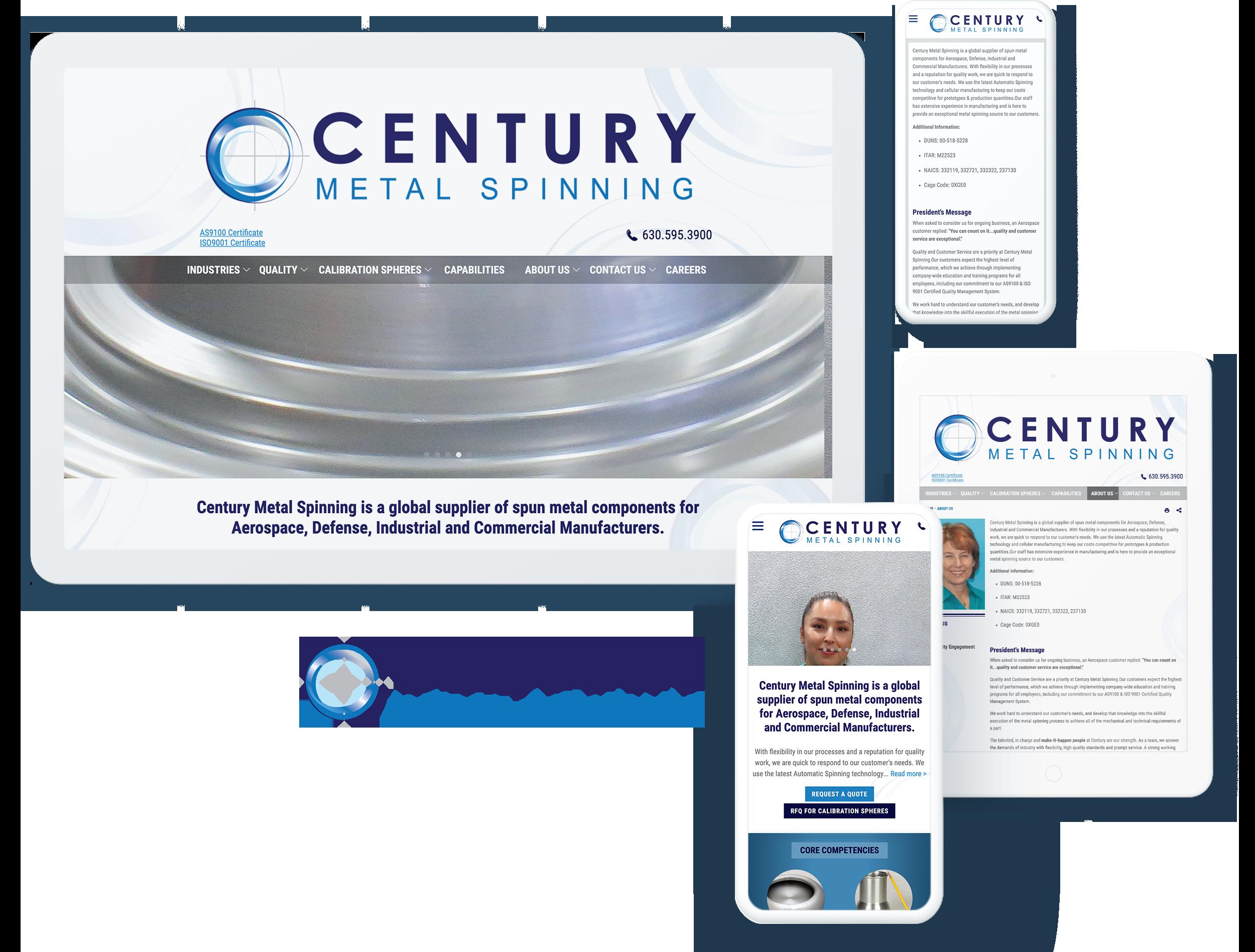 century metal spinning spotlight
