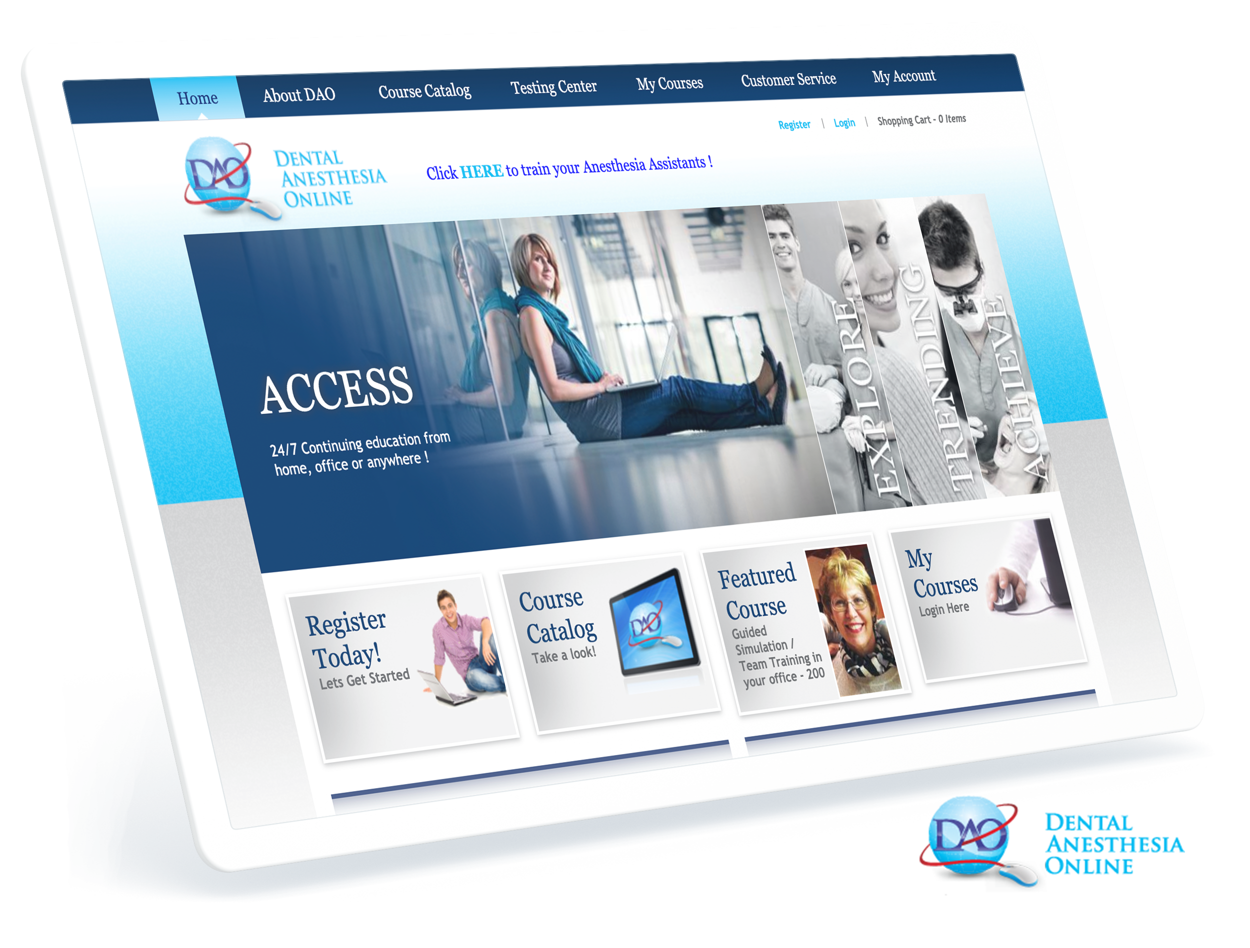 Dental Anesthesia Online Screens