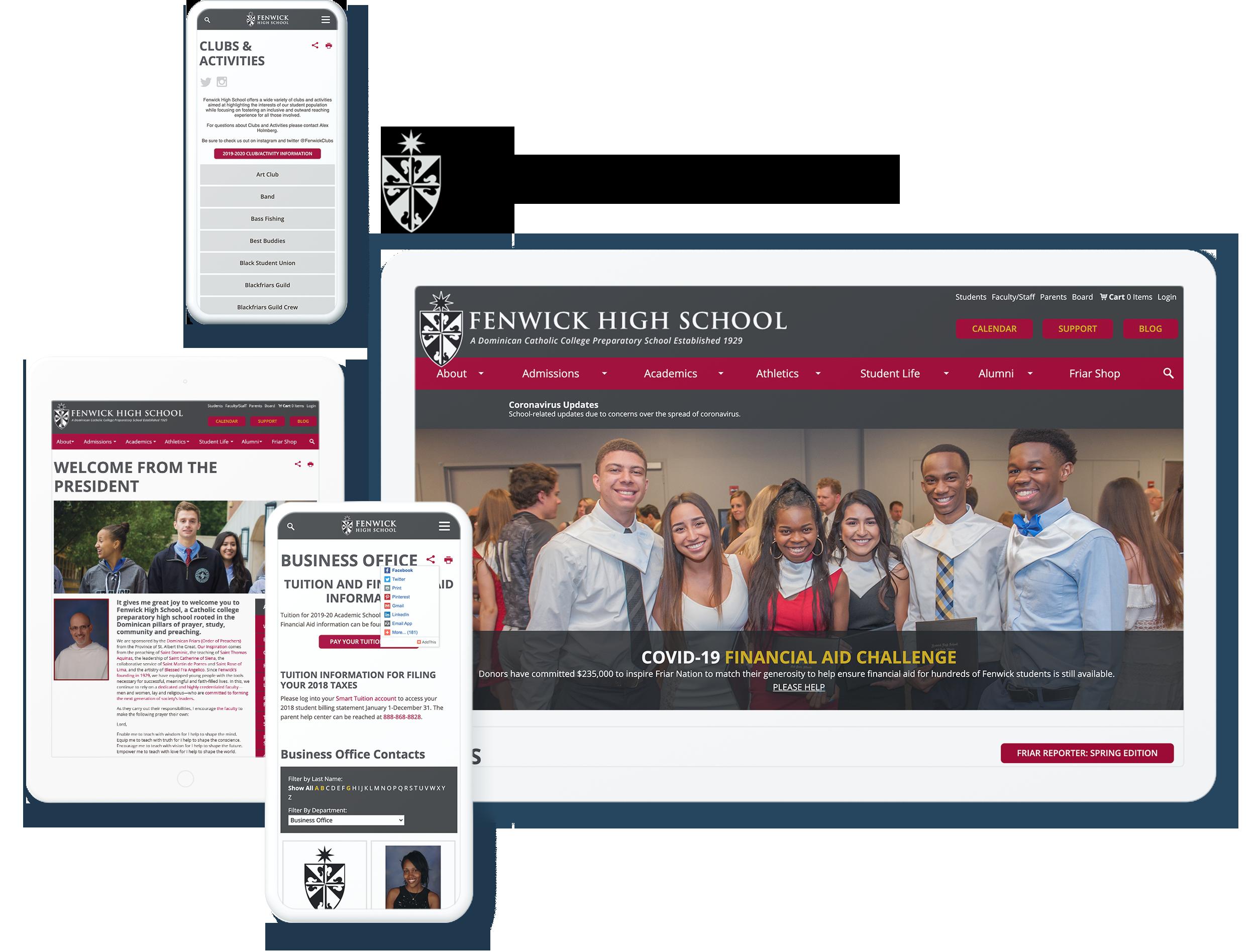 Fenwick High School Screens