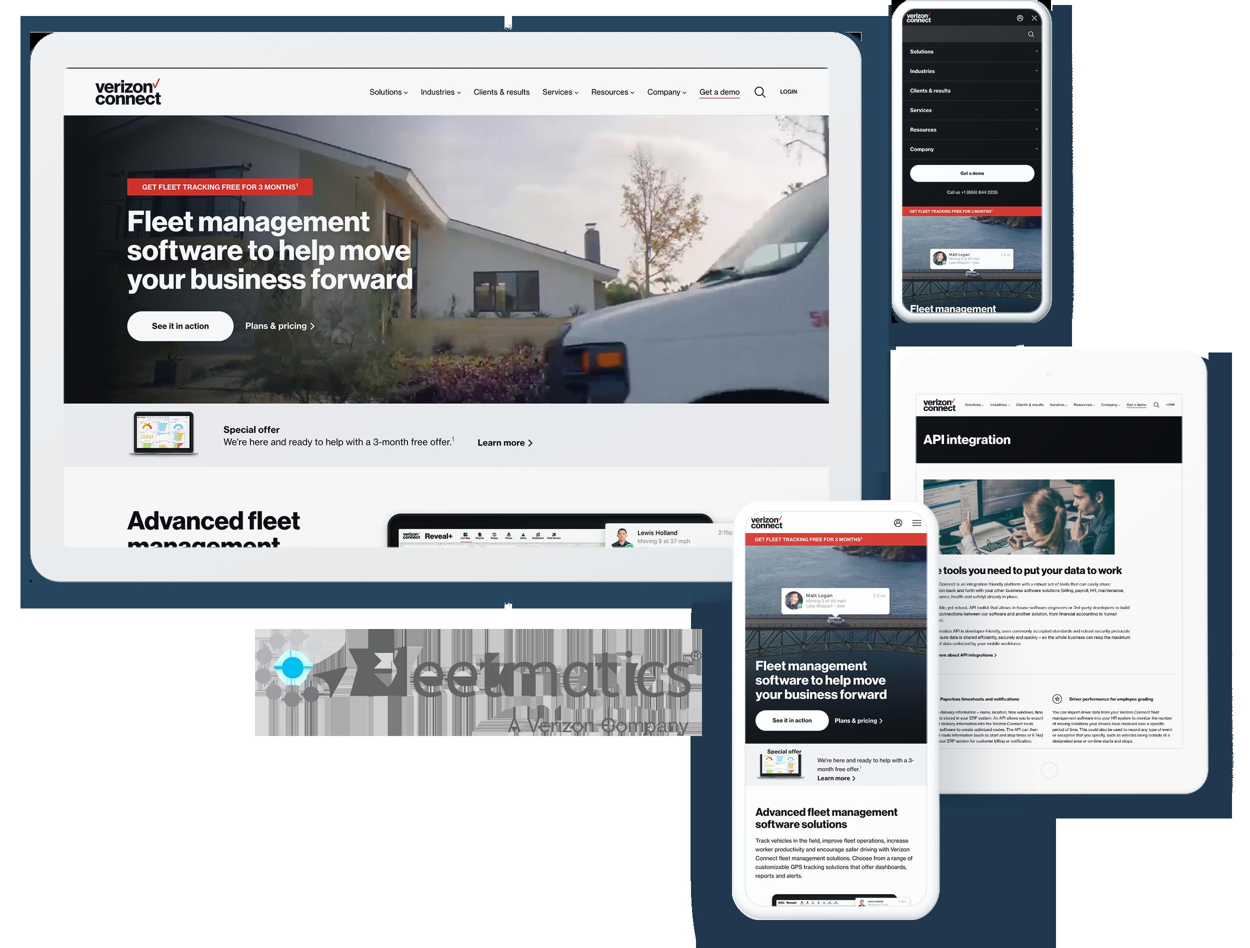 Fleetmatics Screens