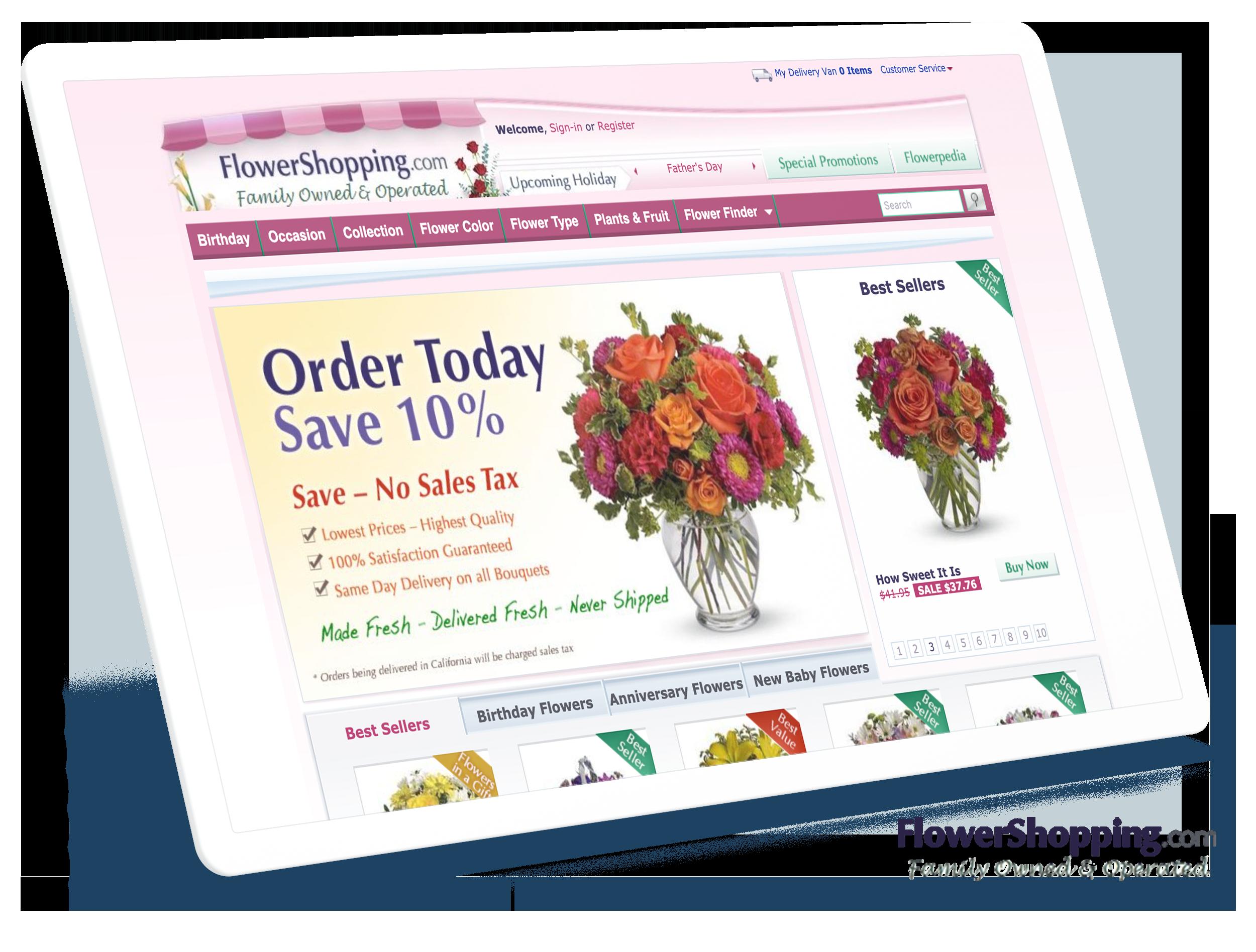 Flowershopping.com Screens