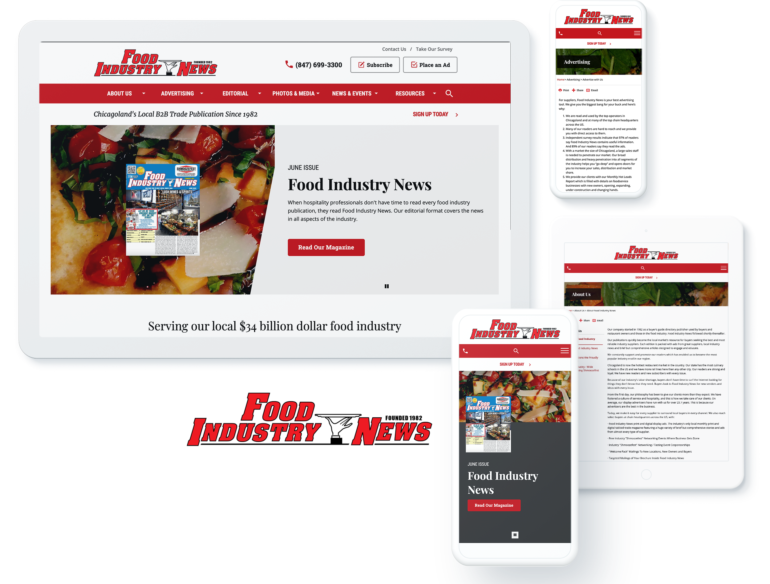Food Industry News Screens
