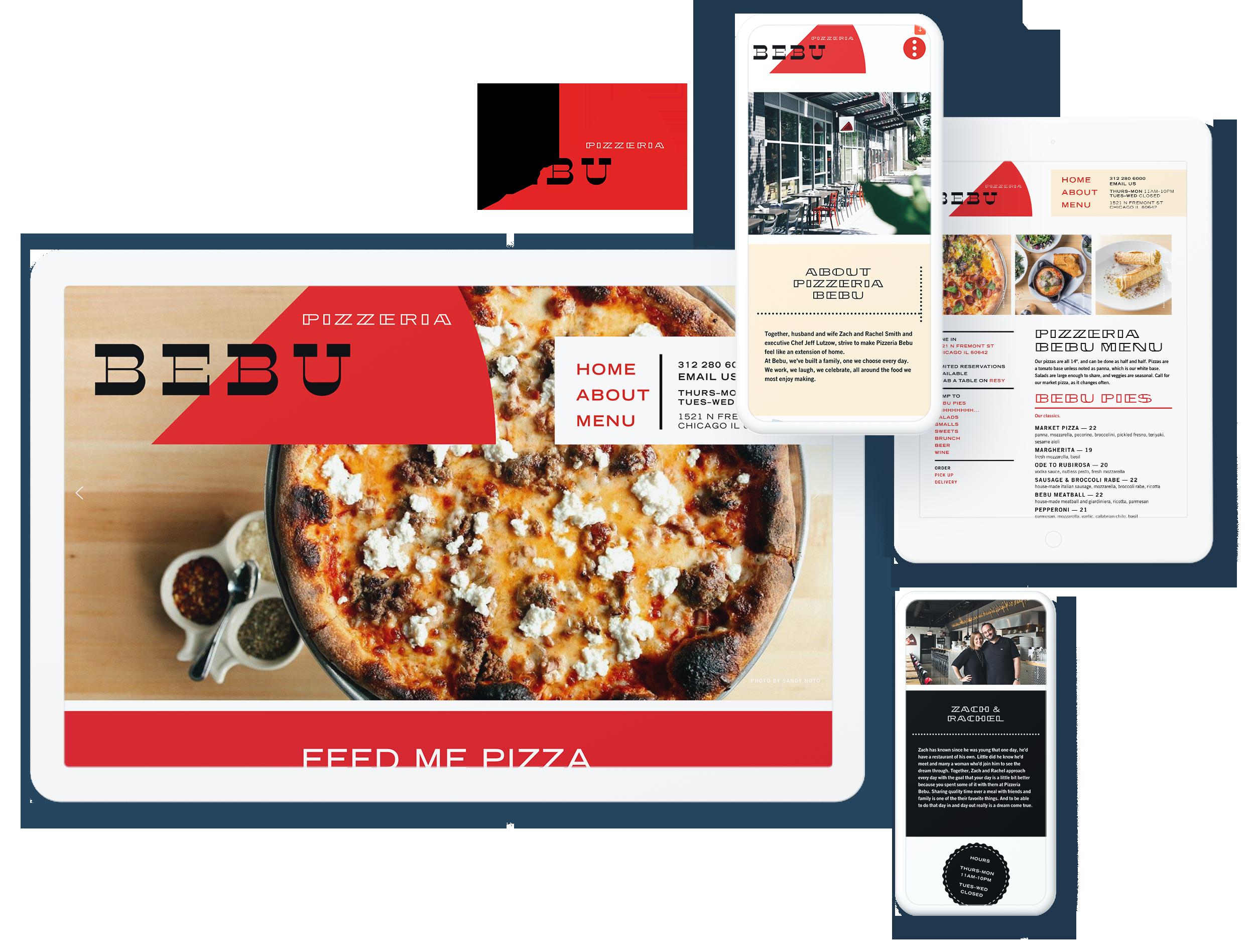 pizza bebu screens