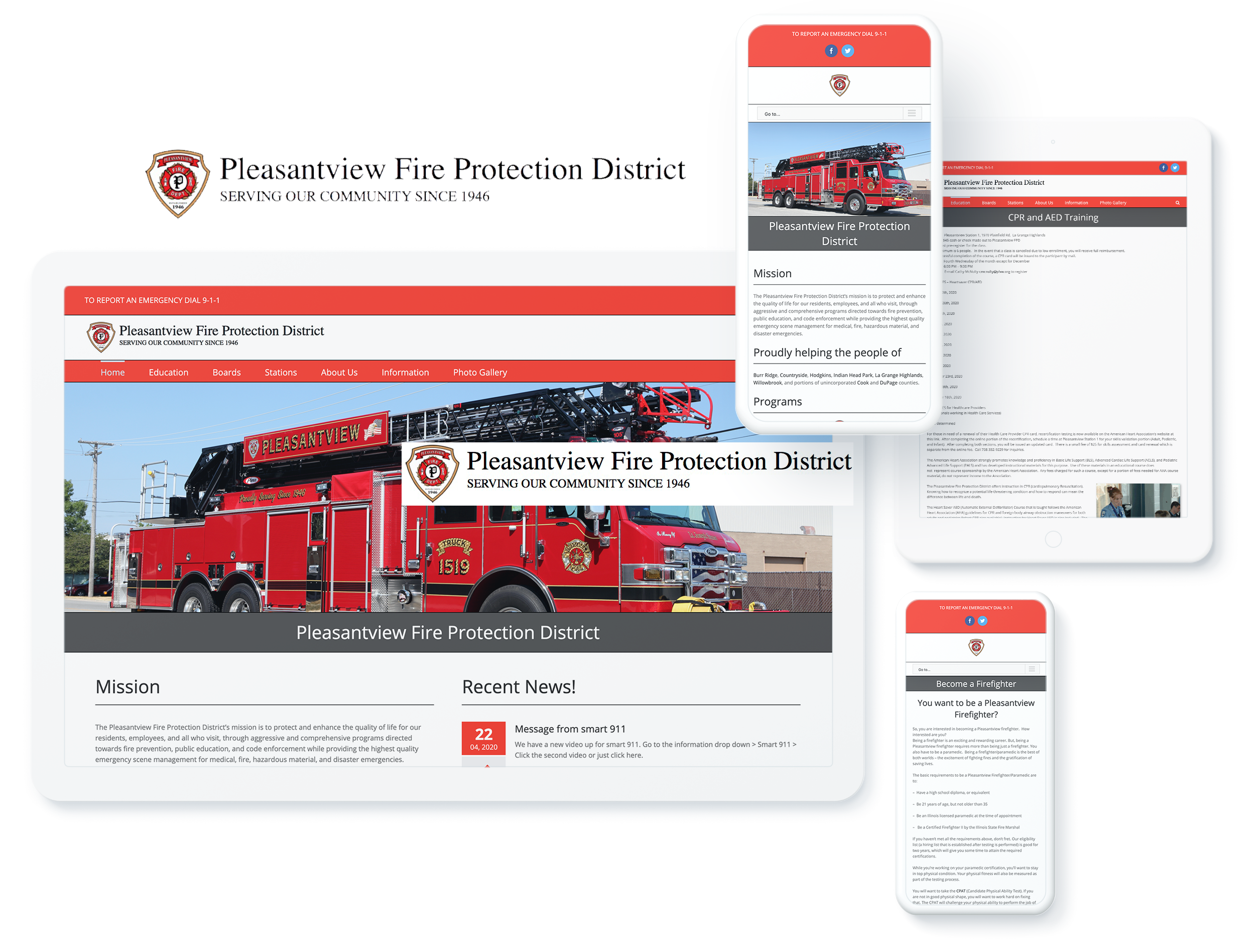 Pleasantview Fire Protection SCREENS