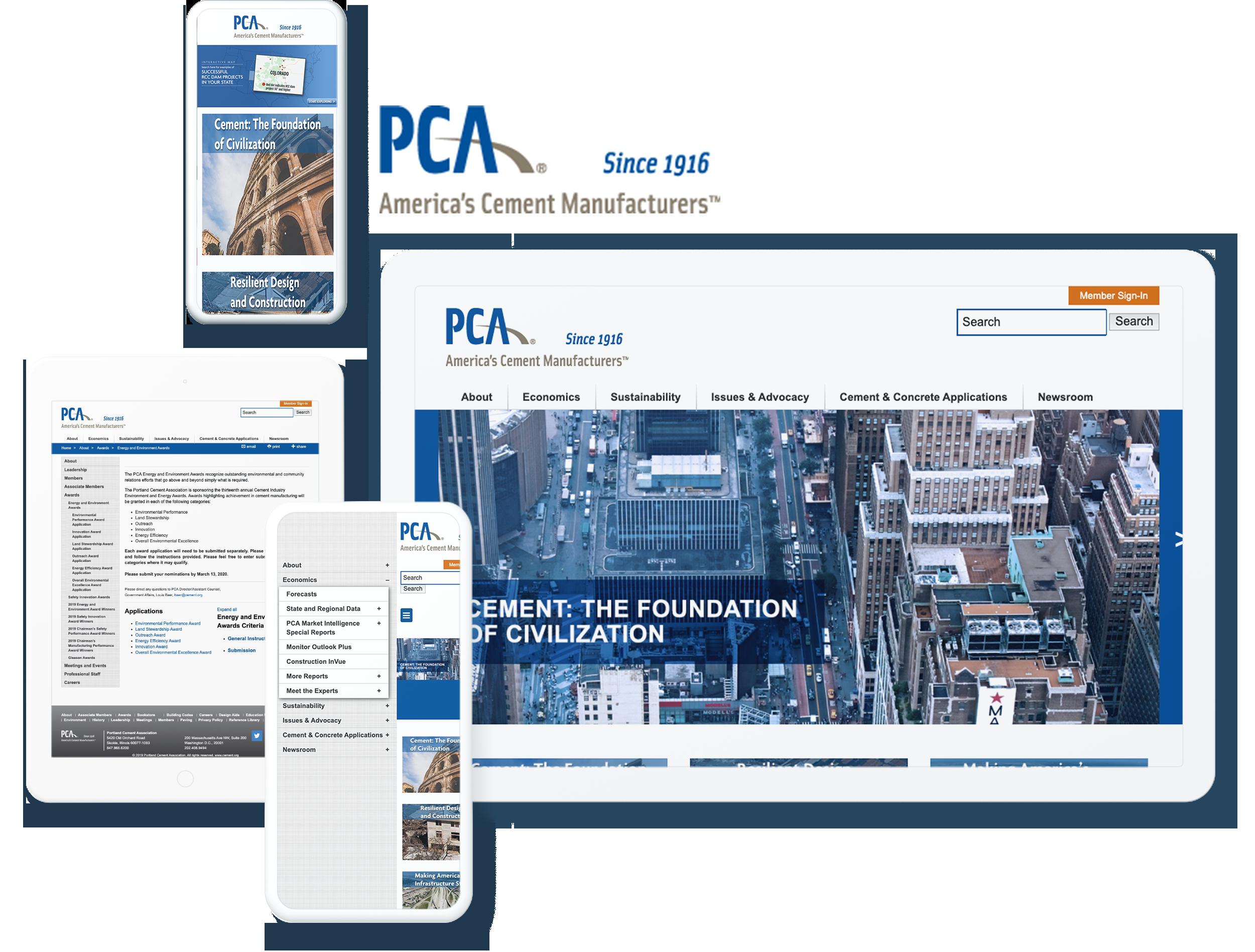portland cement associaltion screens