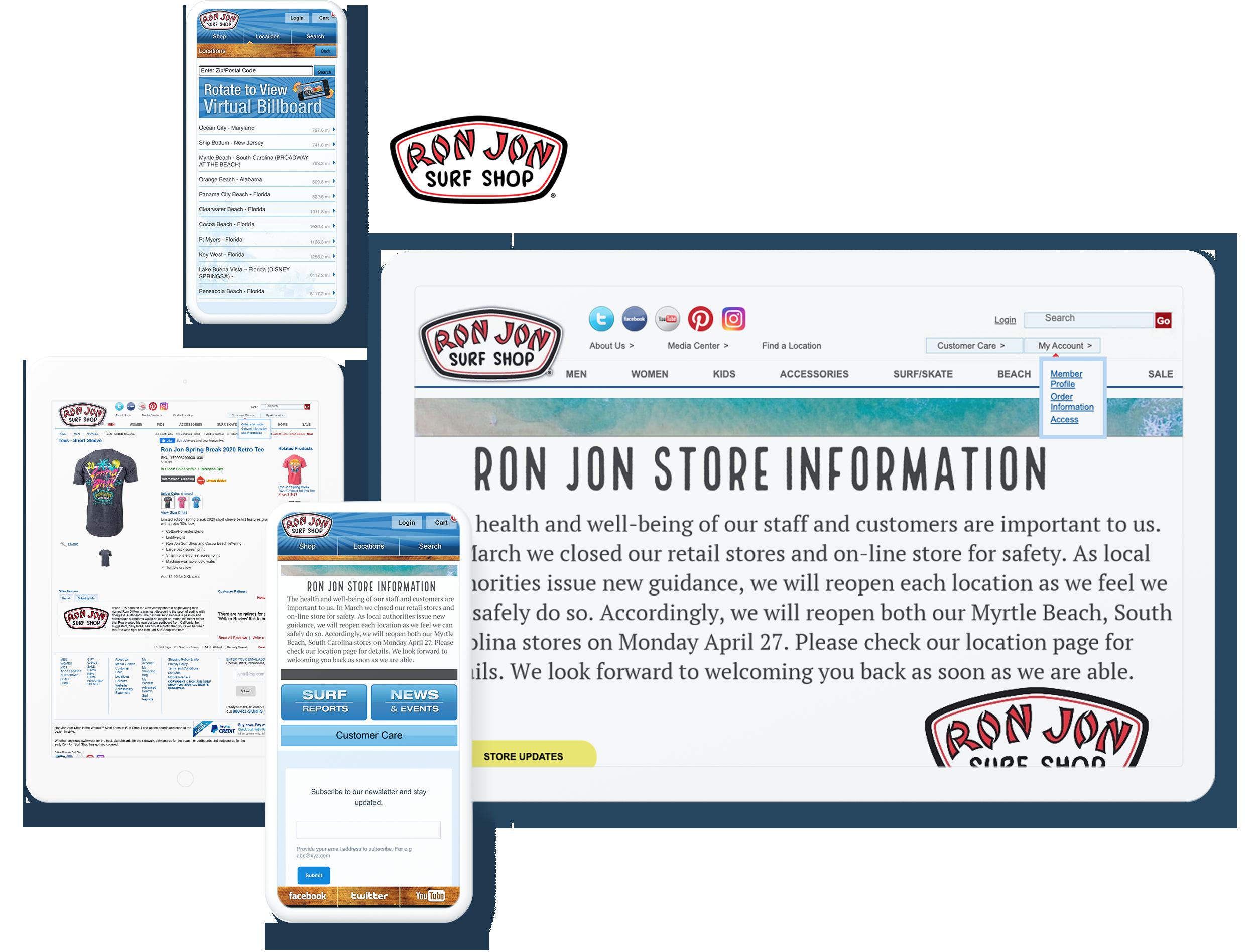 RON JON SURF SHOP SCREENS