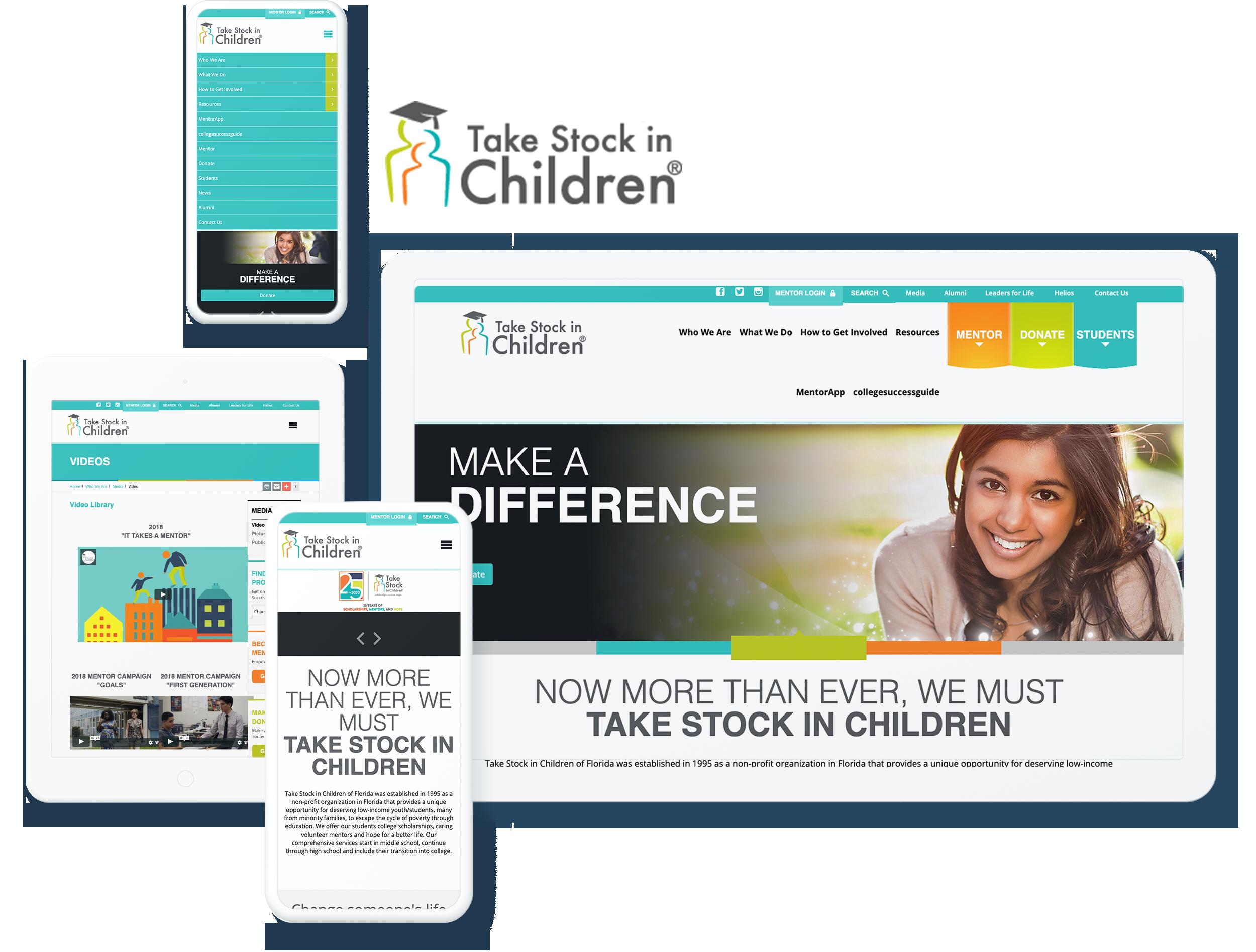TAKE STOCK IN CHILDREN SCREENS