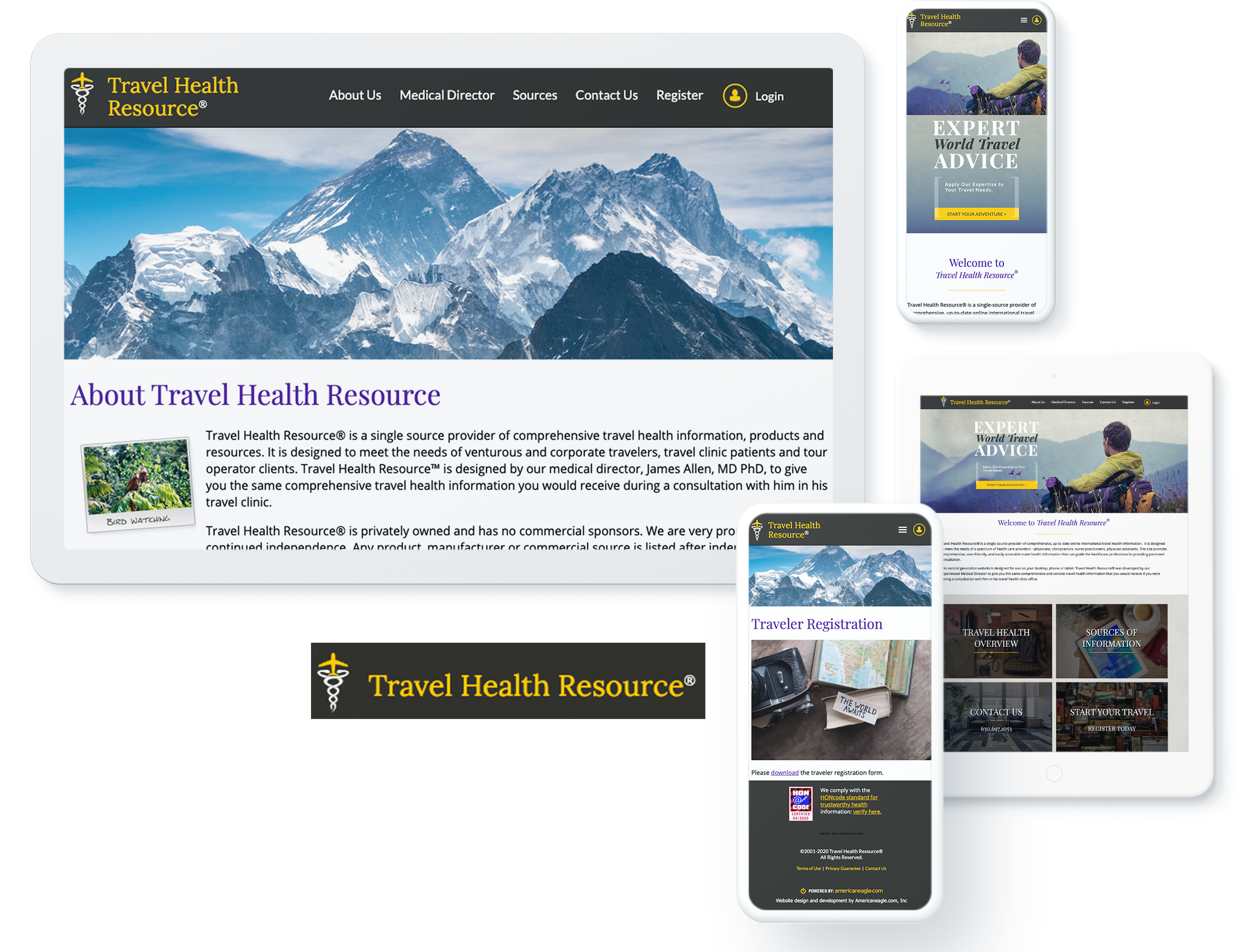 TRAVEL HEALTH RESOURCE SCREENS