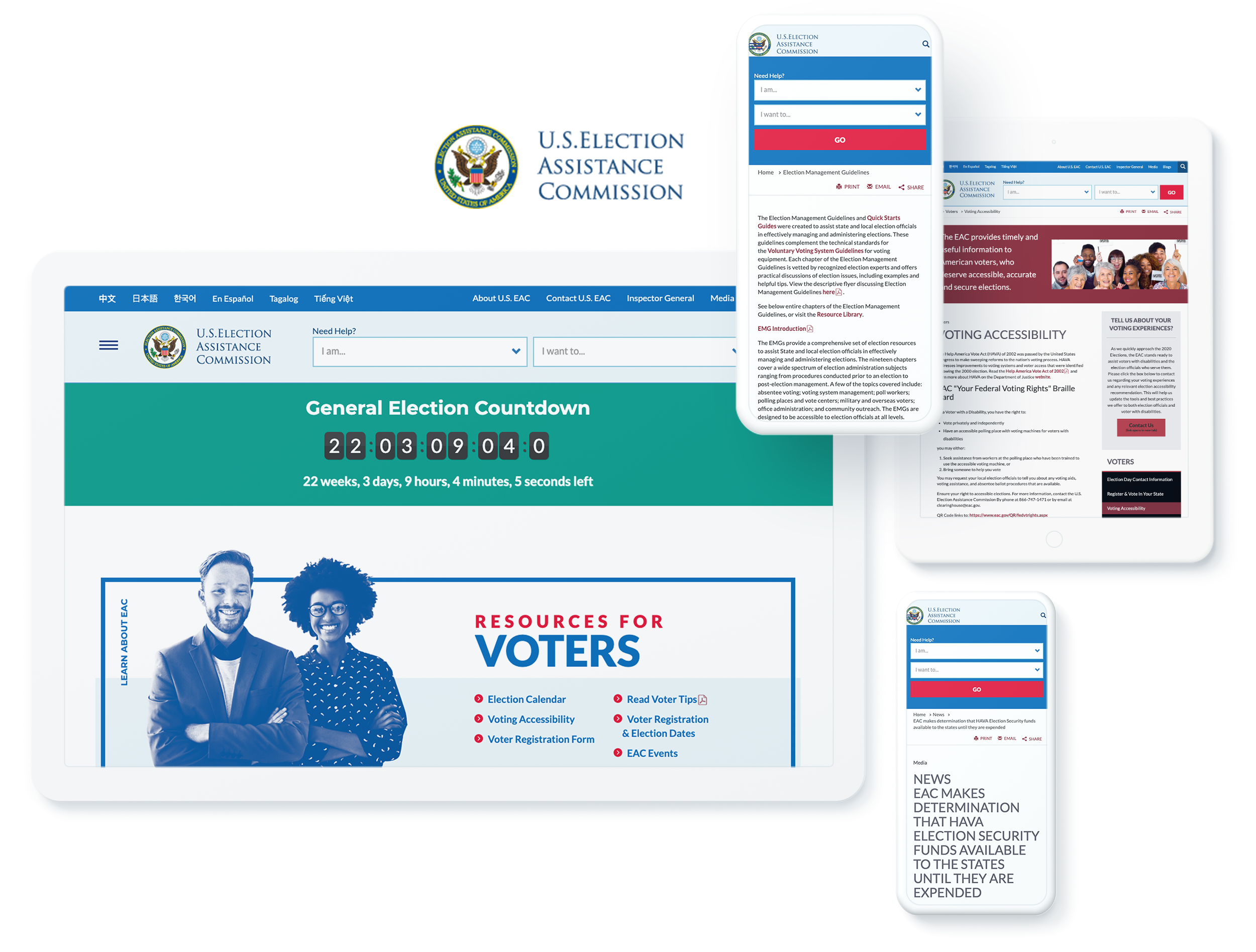 US ELECTION ASSISTANCE SCREENS